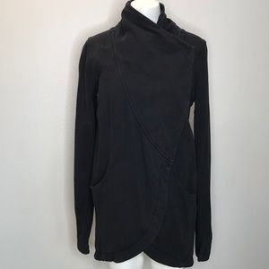 LULULEMON Wrap Sweatshirt Black Size 8